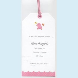 Baby Duck Tag Invitation - click to enlarge