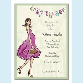 Baby Shower Soiree Invitation - click to enlarge