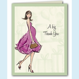Baby Shower Soiree Thank You Notes - click to enlarge