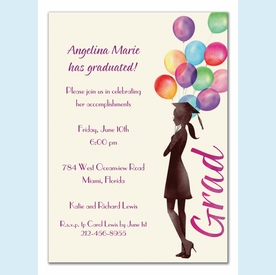 Beautiful Balloons Grad Invitation - click to enlarge