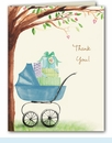 Beautiful Bassinet Boy Thank You Notes