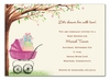 Beautiful Bassinet Girl Invitation