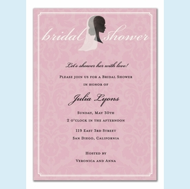Beautiful Bride Silhouette Invitation - click to enlarge