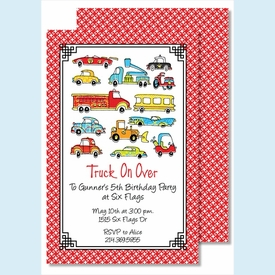 Beep Beep Large Flat Invitation - click to enlarge