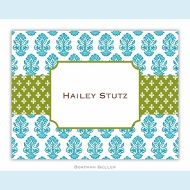 Beti Teal Folded Notes (set/25) - click to enlarge