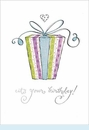 Big Present w/Small Heart Birthday Card