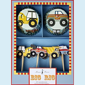 Big Rig Truck Cupcake Kit - click to enlarge