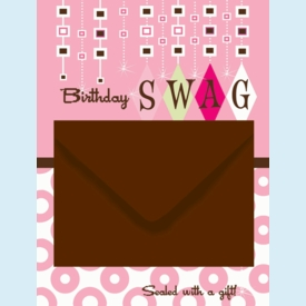 Birthday Swag Gift Card Mailer - click to enlarge