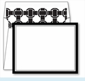 Black Border Small Flat Cards w/Coordinating Liner
