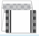 Black Mesh Border Small Flat Cards w/Coordinating Liner