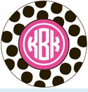 Black/Pink Spot Personalized Mirror