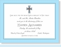Blue & Brown Cross Invitation