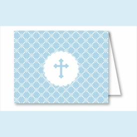 Blue Cross Diamond Pattern Note Cards - click to enlarge