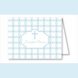 Blue Cross Tile Pattern Note Cards - click to enlarge