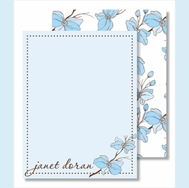 Blue Dogwood Small Flat Cards - click to enlarge
