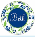 Blue Flower Personalized Magnet