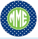 Blue/Green Dot Personalized Magnet