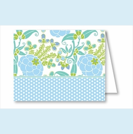 Blue/Green Garden Note Cards - click to enlarge