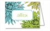 Blue/Green Mums Note Cards