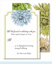 Blue Green Mums Small Flat Cards