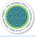 Blue & Green Sticky Labels