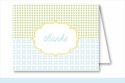Blue/Green/Yellow Crazy Quilt Note Cards
