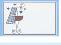 Blue Plaid Baby Tags
