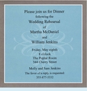 Blue & Silver Square Invitation