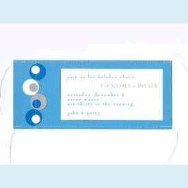 Blue Stitched Circles Invitation - click to enlarge