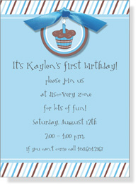 Blueberry Cupcake Invitation
