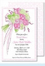 Bouquet Pink Large Flat Invitation