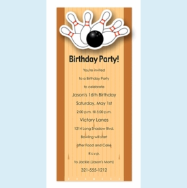 Bowling Pins Wiggler Invitation - click to enlarge