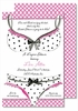 Bra & Panties Large Flat Invitation