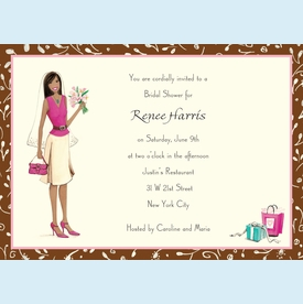 Bridal Cutie Invitation - click to enlarge