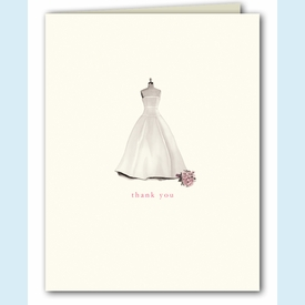 Bridal Dress Form Thank You Notes - click to enlarge