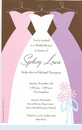Bridal Dresses Invitation