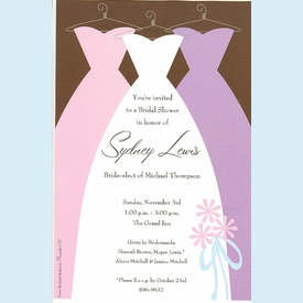 Bridal Dresses Invitation - click to enlarge