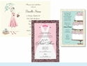Bridal Shower Invitations - <i>Stylish & Simple</i>