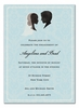 Bride and Groom Silhouette Invitation