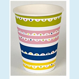 Bright Patterned Party Cups - click to enlarge