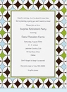Brown Star Circles Invitation