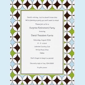 Brown Star Circles Invitation - click to enlarge