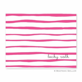 Brush Stripe Raspberry Folded Notes (set/25) - click to enlarge
