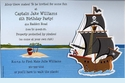 Buccaneer Pirate Ship Invitation