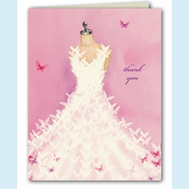 Butterfly Dress Thank You Notes - click to enlarge