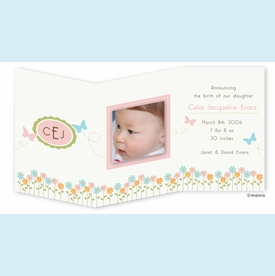 Butterfly Monogram Trifold Announcement - click to enlarge