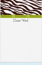 Buttoned Up Zebra Brown Invitation
