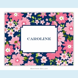 Caroline Floral Pink Folded Notes (set/25) - click to enlarge
