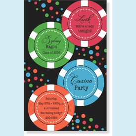 Casino Confetti Invitation - click to enlarge
