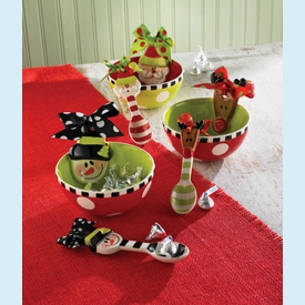 Ceramic Candy Bowl & Spoon - click to enlarge